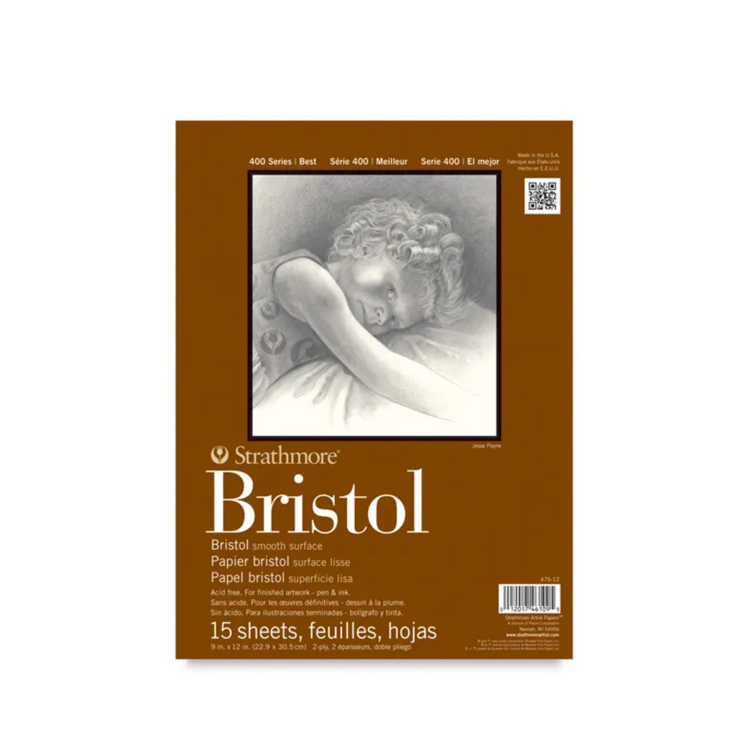 Strathmore 400 Series Smooth Surface Bristol Paper Pad - ArtSnacks