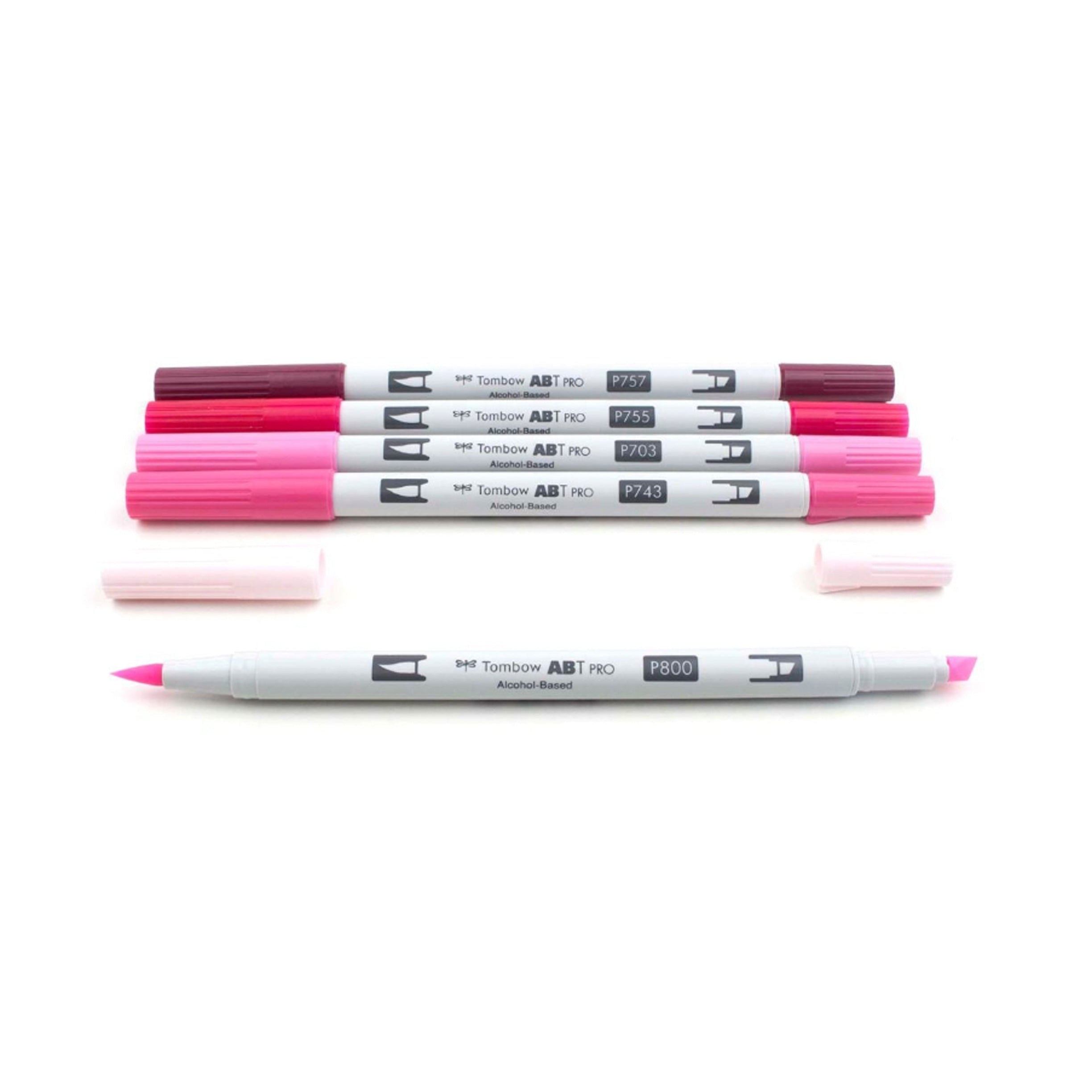 Tombow ABT PRO Alochol-Based Markers, Pink Tones Set of 5