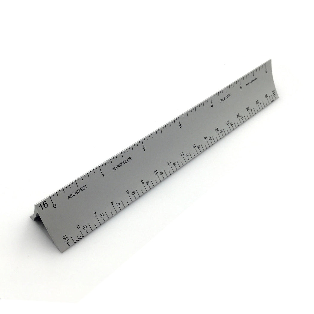 Alumicolor Hollow Triangular Drafting Scale Ruler - ArtSnacks