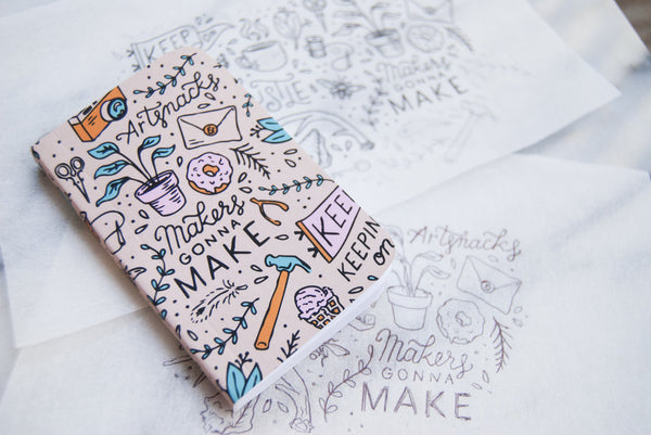 Limited Edition Mini ArtSnacks + Denik Sketchbook 2015 - ArtSnacks