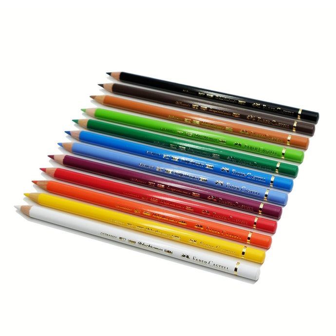 Faber-Castell Polychromos Colored Pencils, Set of 12 - ArtSnacks