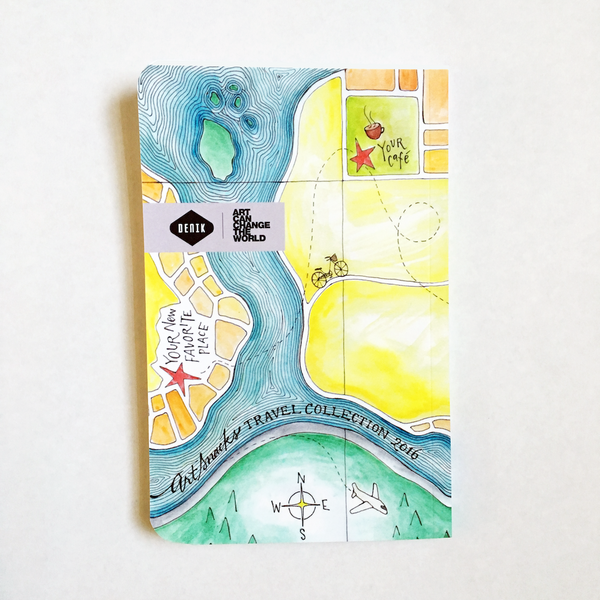 Limited Edition ArtSnacks + Denik Travel Sketchbook 2016