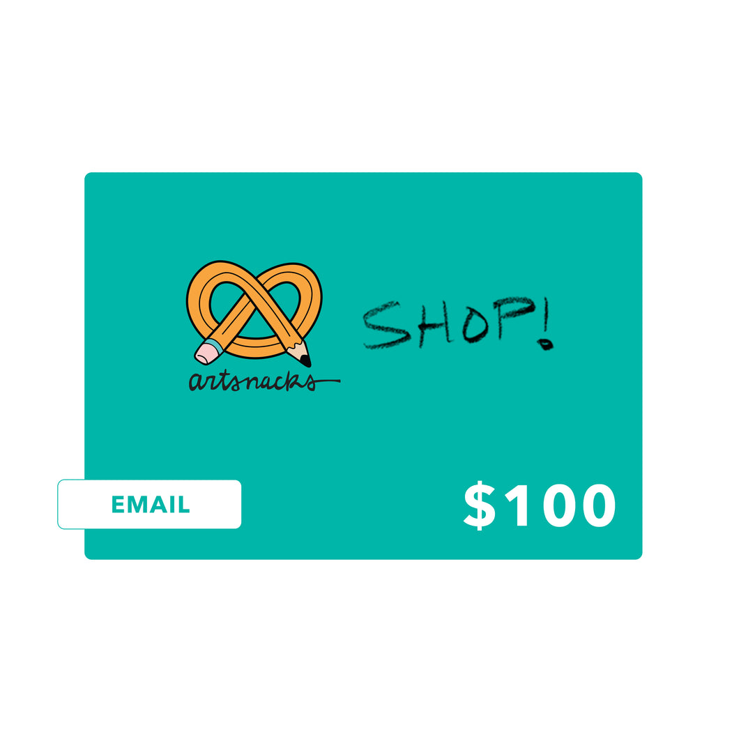 ArtSnacks Shop Gift Card - ArtSnacks