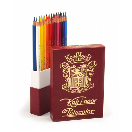 Limited Edition Koh-I-Noor Polycolor Colored Pencils, Vintage Set of 24 - ArtSnacks