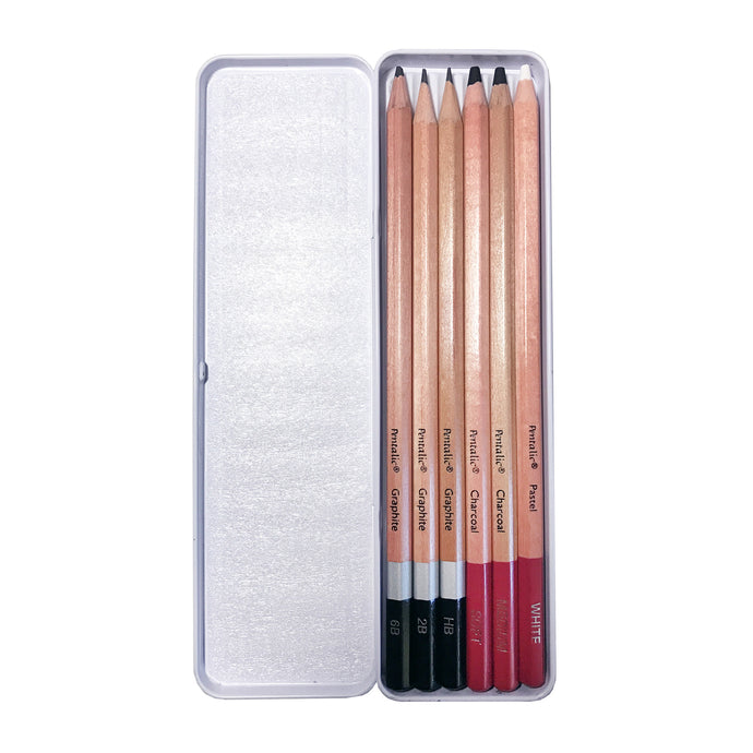Pentalic Graphite & Charcoal Drawing Pencils Set - ArtSnacks