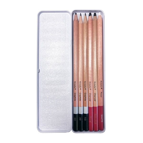 Pentalic Graphite & Charcoal Drawing Pencils Set