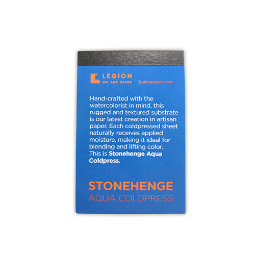 Stonehenge Aqua Coldpress Mini Paper Pad by Legion Paper - ArtSnacks