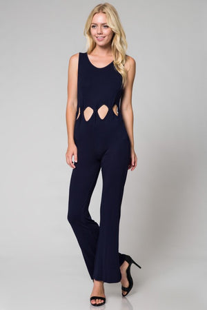 Navy Cut Out Jumpsuit