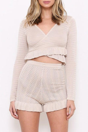 Knit Two Piece Set - Cream