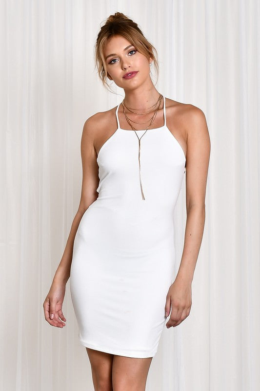 Crossback Dress - White
