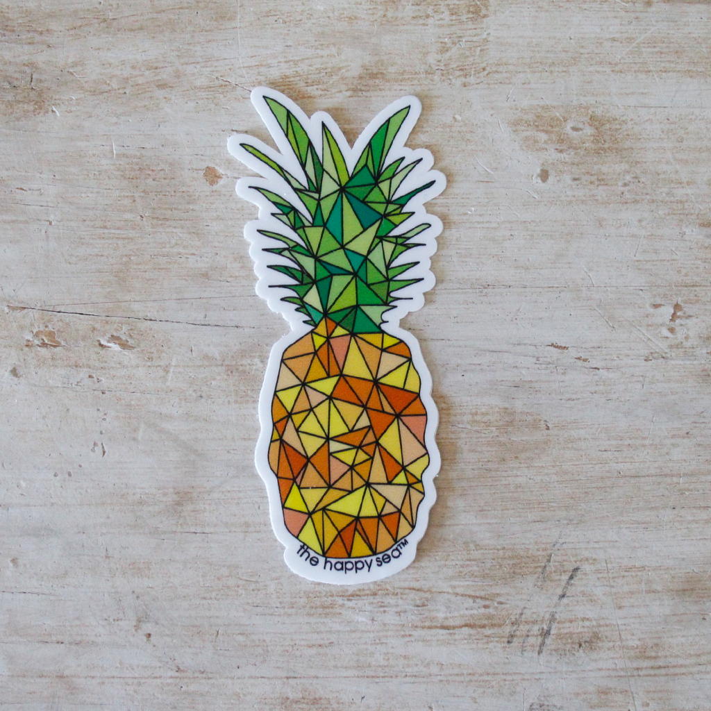 "The Happy Sea - 3"" Pineapple Sticker"