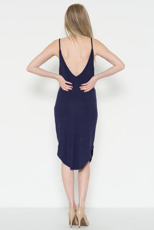 Sleeveless Double V-Neck Dress