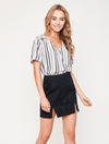 Distressed Mini Skirt - Black