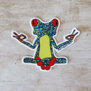 "The Happy Sea - 3"" Yoga Frog Sticker"
