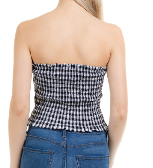 Gingham Tube Top