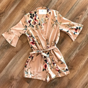 Savannah Blush Floral Romper