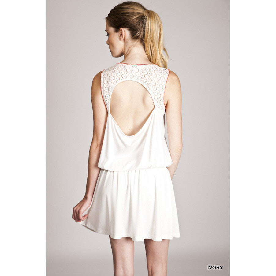 Windy Drop Waist Dress - White