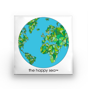 The Happy Sea - Globe Buttons