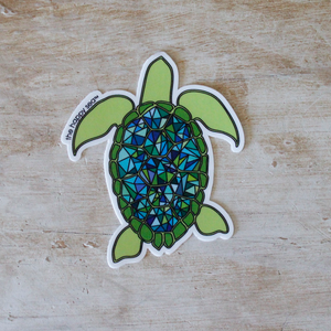 "The Happy Sea - 3"" Sea Turtle Sticker"