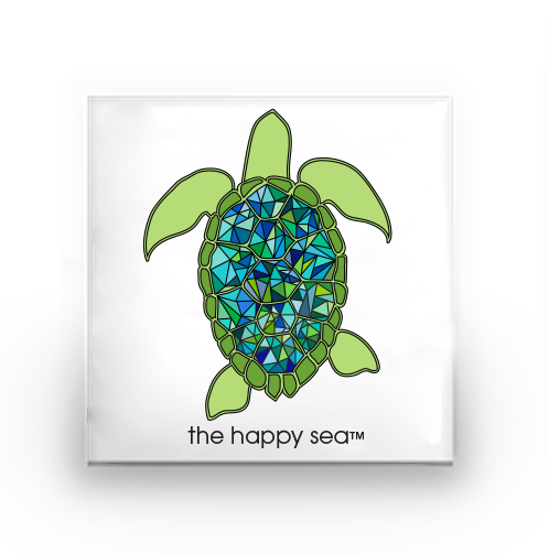The Happy Sea - Sea Turtle Buttons