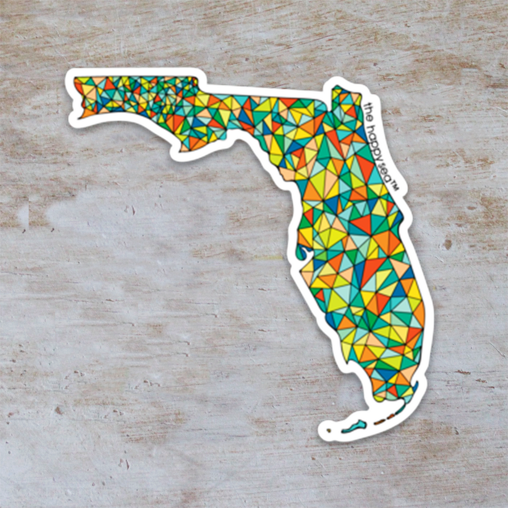 "The Happy Sea - 3"" Florida Sticker"