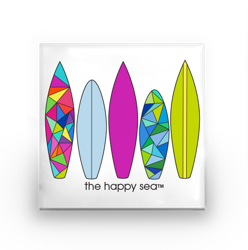 The Happy Sea - Surfboard Buttons