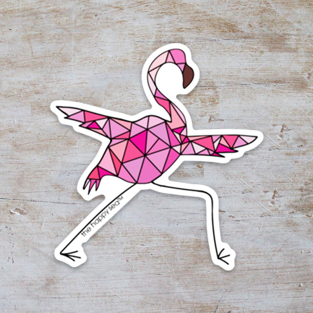 "The Happy Sea - 3"" Yoga Flamingo"