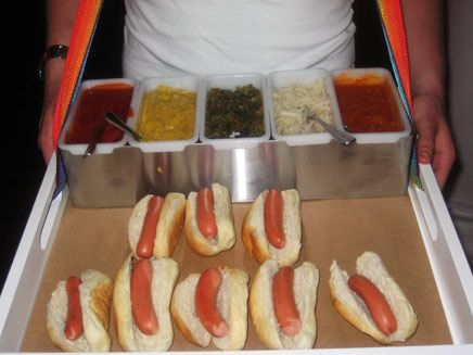 Hot Dogs with Condiment Options