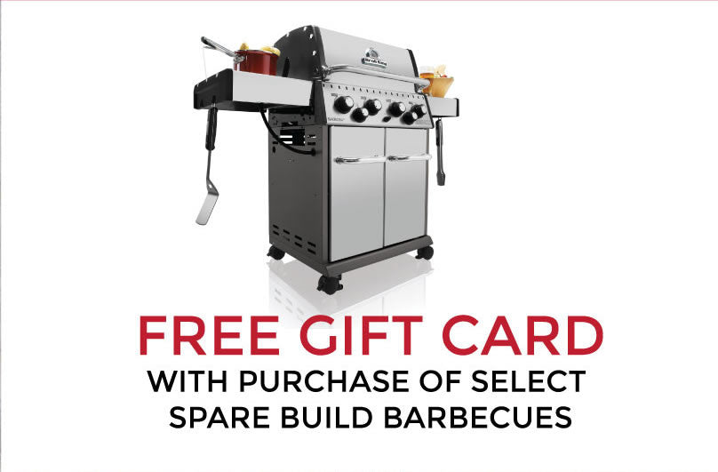 Barbecues Galore Birthday Sale - Free Gift Card with select Spare Build Barbecues