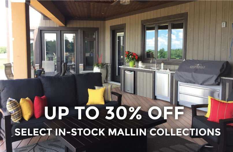Barbecues Galore Birthday Sale - Save up to 30% on in stock Mallin Patio Furniture