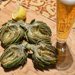 Eat the artichokes. Drink a beer. Enjoy!