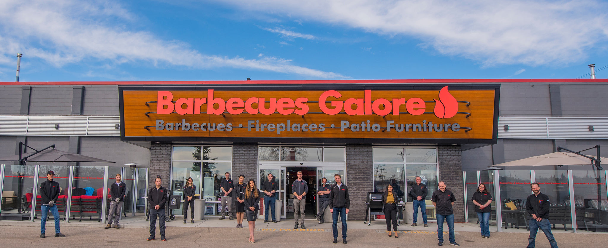Barbecues Galore has two locations in Calgary, Alberta and three big showrooms across Ontario in Burlington, Etobicoke and Oakville.