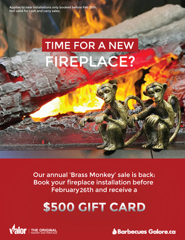 Barbecues Galore Brass Monkey Gas Fireplace Sale