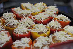 Stuffed peppers on the Broil King Keg
