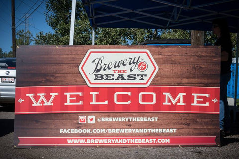 Brewery and the Beast Welcome Sign