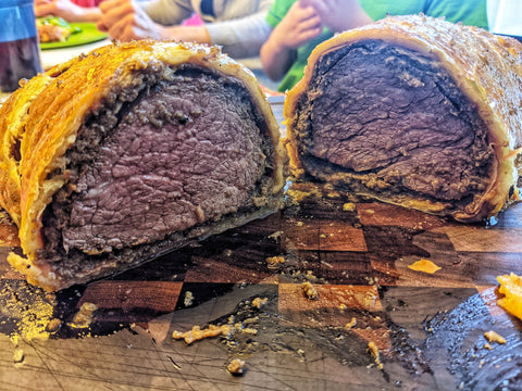 smoked beef wellington recipe, from barbecues galore, recipes of the month