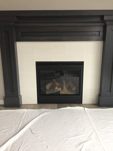 Zero clearance fireplace in customer's home from Barbecues Galore