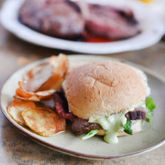 Flank Steak Sandwiches with Horseradish Mayo Recipe