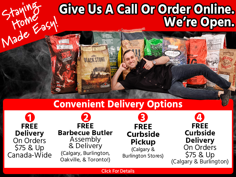 Buy your barbecue online or in-store Calgary, GTA, or Toronto and get free assembly and delivery