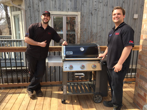 Barbecue Butlers from Barbecues Galore are hard at work delivering another barbecue to another happy customer