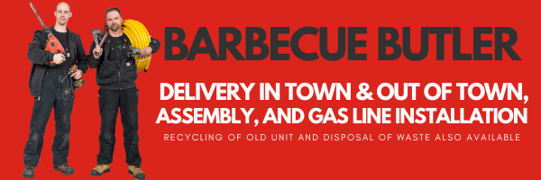 Barbecues Galore provides strapping men to come to your home...for gas line services and assembly or delivery of barbecues and patio furniture