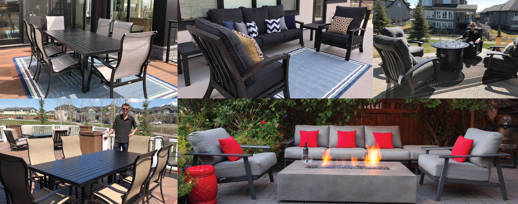 Mallin Outdoor Furniture Collage