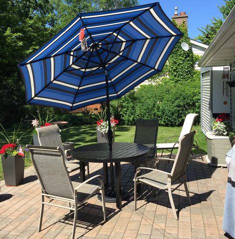 Designed To Be Placed In A Dining Table, Umbrella End Table Or Decorative  Base. Brighten Up Your Patio While Reducing Sunshine.
