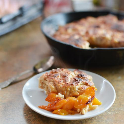 Food For Thought: Barbecue Baked Peach Cobbler Recipe by Barbecues Galore