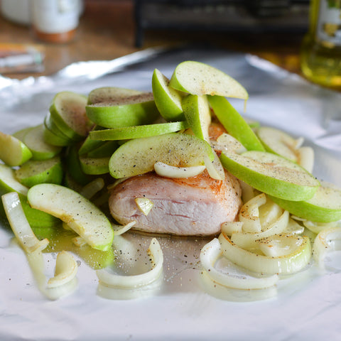 Pork Tenderloin with Grilled Apples & Onions Recipe