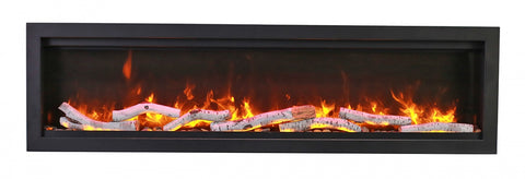 """Amantii Symmetry Bespoke 60"""" With Birch Logs 