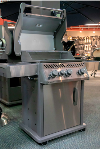 napoleon rogue stainless steel grill, from barbecues galore