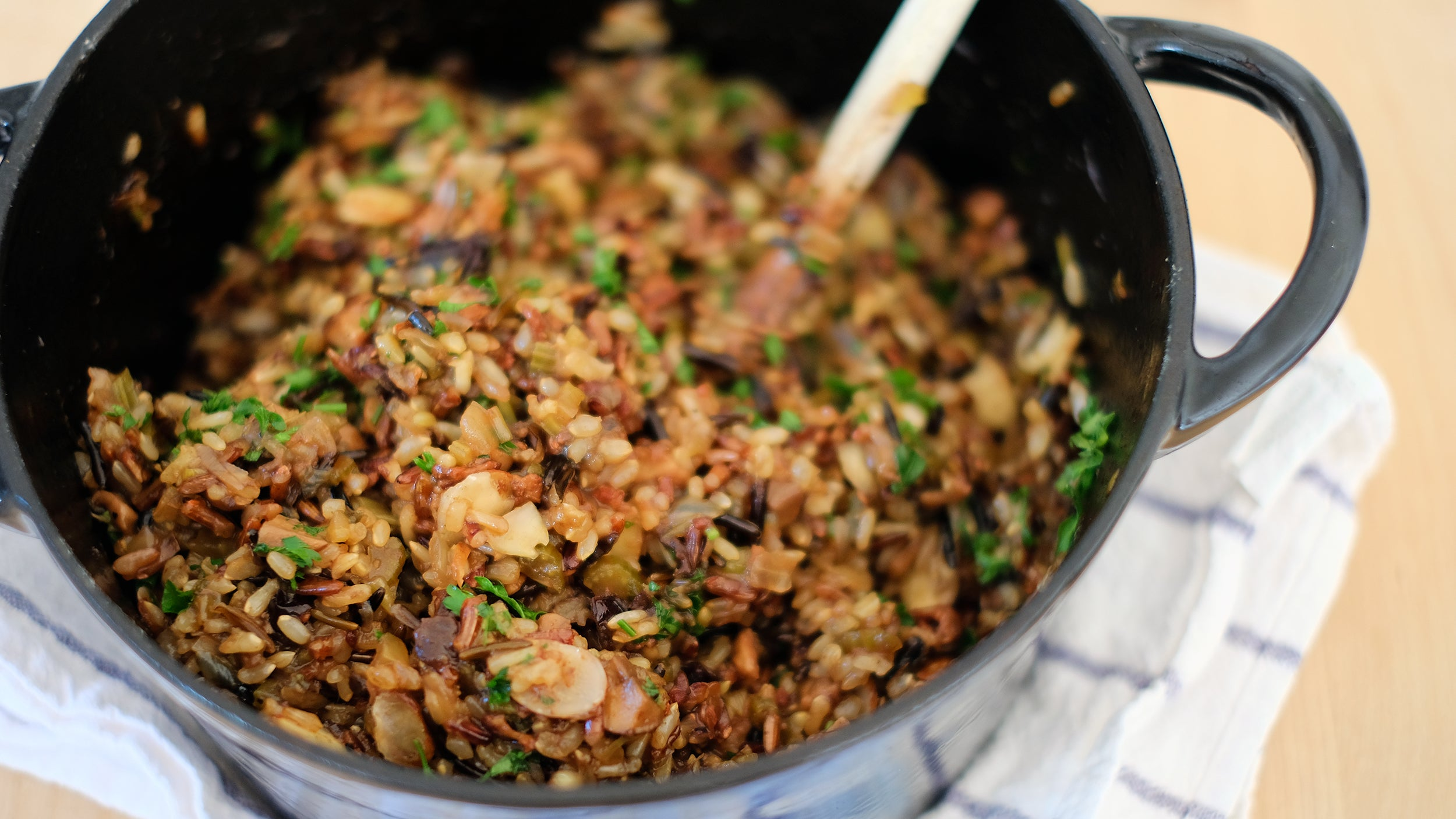 Recipe of the month: Holiday wild rice and mushroom stuffing