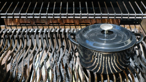 Barbecues Galore Brander Cast Iron Pot for The Wild Rice and Mushroom Stuffing Recipe
