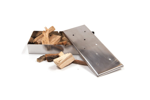 Brander Stainless Steel Smoker Box filled with wood chips